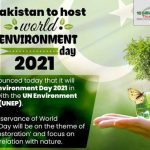 WORLD ENVIRONMENT DAY 2021 PAKISTAN'S COMMITMENT TO CLIMATE CHANGE